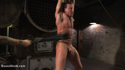 Photo number 13 from Derek Pain vs Christian Wilde shot for Bound Gods on Kink.com. Featuring Christian Wilde and Derek Pain in hardcore BDSM & Fetish porn.