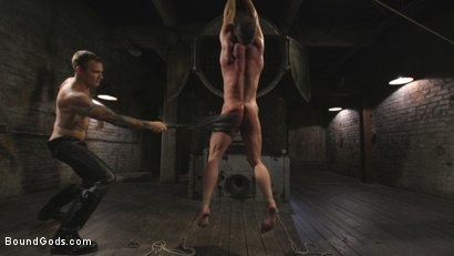 Photo number 4 from Derek Pain vs Christian Wilde shot for Bound Gods on Kink.com. Featuring Christian Wilde and Derek Pain in hardcore BDSM & Fetish porn.