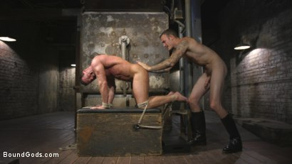 Photo number 5 from Derek Pain vs Christian Wilde shot for Bound Gods on Kink.com. Featuring Christian Wilde and Derek Pain in hardcore BDSM & Fetish porn.