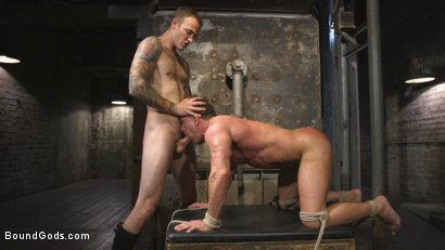 Photo number 6 from Derek Pain vs Christian Wilde shot for Bound Gods on Kink.com. Featuring Christian Wilde and Derek Pain in hardcore BDSM & Fetish porn.