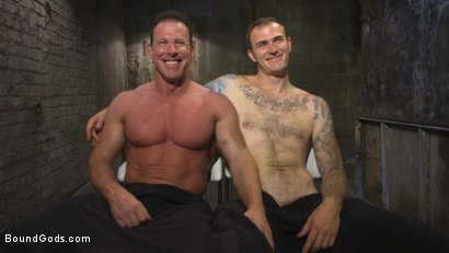 Photo number 15 from Derek Pain vs Christian Wilde shot for Bound Gods on Kink.com. Featuring Christian Wilde and Derek Pain in hardcore BDSM & Fetish porn.