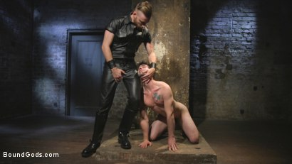 Photo number 3 from Mr Keys Takes The House Slave To The Next Level shot for Bound Gods on Kink.com. Featuring Sebastian Keys and Jackson Fillmore in hardcore BDSM & Fetish porn.