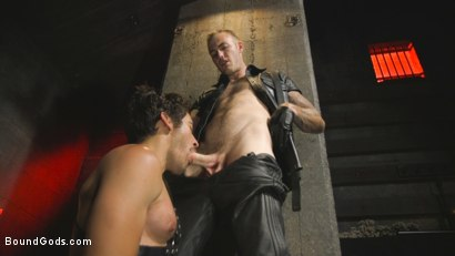 Photo number 3 from A Date with Mr Wilde shot for Bound Gods on Kink.com. Featuring Dale Cooper and Christian Wilde in hardcore BDSM & Fetish porn.