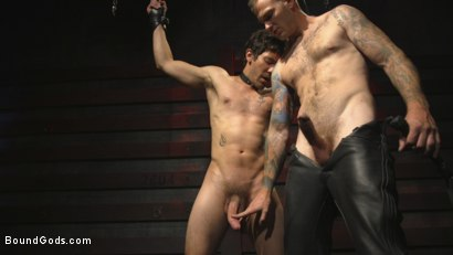 Photo number 1 from A Date with Mr Wilde shot for Bound Gods on Kink.com. Featuring Dale Cooper and Christian Wilde in hardcore BDSM & Fetish porn.