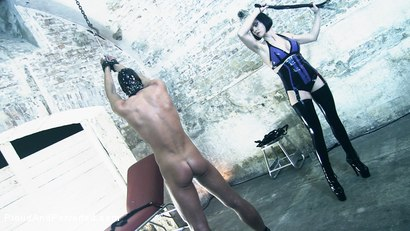 Photo number 10 from Bizarre Being: Bizarre Violet and Slave Lukas shot for Proud and Perverted on Kink.com. Featuring  in hardcore BDSM & Fetish porn.