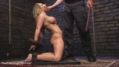 Photo number 8 from Open Throat Training Cali Carter shot for The Training Of O on Kink.com. Featuring Cali Carter and Mr. Pete in hardcore BDSM & Fetish porn.