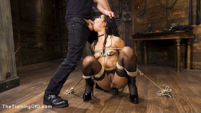 Photo number 3 from Kira Noir Trained to Fist Her Own Ass! shot for The Training Of O on Kink.com. Featuring Kira Noir and Bill Bailey in hardcore BDSM & Fetish porn.