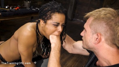 Photo number 13 from Kira Noir Trained to Fist Her Own Ass! shot for The Training Of O on Kink.com. Featuring Kira Noir and Bill Bailey in hardcore BDSM & Fetish porn.