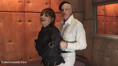 Photo number 21 from Straitjackets for Bondage and Sex shot for Kink University on Kink.com. Featuring Charlotte Cross and Danarama in hardcore BDSM & Fetish porn.