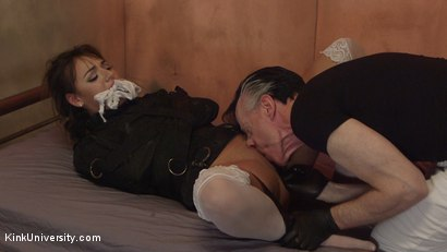 Photo number 22 from Straitjackets for Bondage and Sex shot for Kink University on Kink.com. Featuring Charlotte Cross and Danarama in hardcore BDSM & Fetish porn.