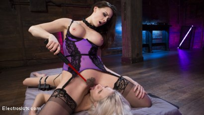 Photo number 10 from Cadence Lux is Electric! shot for Electro Sluts on Kink.com. Featuring Chanel Preston and Cadence Lux in hardcore BDSM & Fetish porn.