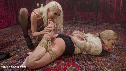 Photo number 2 from Blonde Bombshell bound, spanked and anally fisted! shot for Whipped Ass on Kink.com. Featuring Dahlia Sky and Lorelei Lee in hardcore BDSM & Fetish porn.