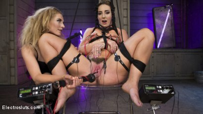 Photo number 3 from Horny Anal Slut Squirts All Day Long! shot for Electro Sluts on Kink.com. Featuring Savannah Fox and Mona Wales in hardcore BDSM & Fetish porn.