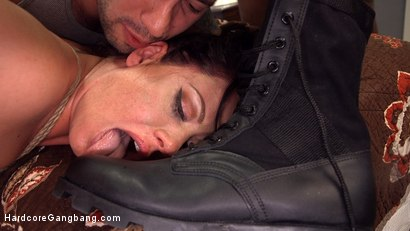 Photo number 4 from Hot MILF Wife Gangbanged and Glazed By Husband's Friends! shot for Hardcore Gangbang on Kink.com. Featuring Tommy Pistol, John Johnson, Jay Smooth, Mark Wood, Jon Jon and Holly Heart in hardcore BDSM & Fetish porn.