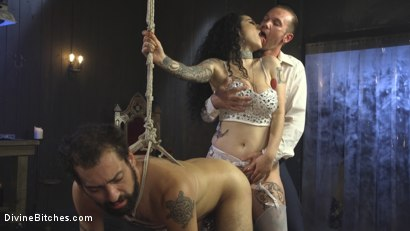 Photo number 3 from Basement Cuckold Debasement shot for Divine Bitches on Kink.com. Featuring Will Havoc, Arabelle Raphael and DJ in hardcore BDSM & Fetish porn.