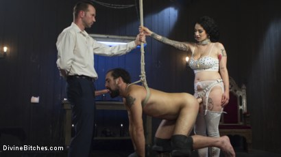 Photo number 14 from Basement Cuckold Debasement shot for Divine Bitches on Kink.com. Featuring Will Havoc, Arabelle Raphael and DJ in hardcore BDSM & Fetish porn.