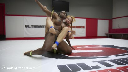 Photo number 1 from 2 Muscle Goddesses Fight for dominance.100% real competitive wrestling shot for Ultimate Surrender on Kink.com. Featuring Cheyenne Jewel and Kelli Provocateur in hardcore BDSM & Fetish porn.