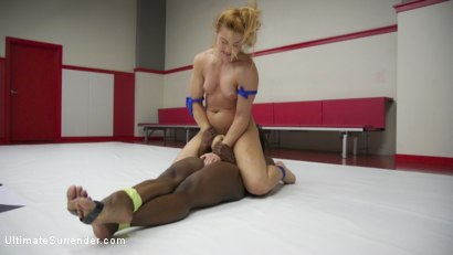 Photo number 11 from 2 Muscle Goddesses Fight for dominance.100% real competitive wrestling shot for Ultimate Surrender on Kink.com. Featuring Cheyenne Jewel and Kelli Provocateur in hardcore BDSM & Fetish porn.