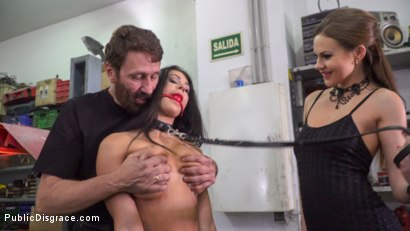 Photo number 4 from Susy Gala - Public Fuck Doll: Part 2 shot for Public Disgrace on Kink.com. Featuring Steve Holmes, Tina Kay and Susy Gala in hardcore BDSM & Fetish porn.