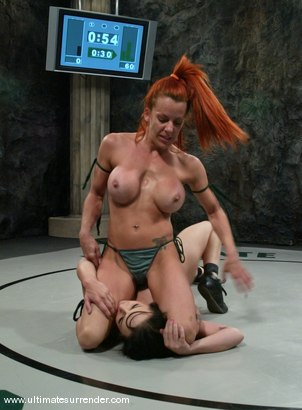 Photo number 8 from The Green Machine(0-1) <br>The Badger (1-2) shot for Ultimate Surrender on Kink.com. Featuring Shannon Kelly and Alexa Von Tess in hardcore BDSM & Fetish porn.
