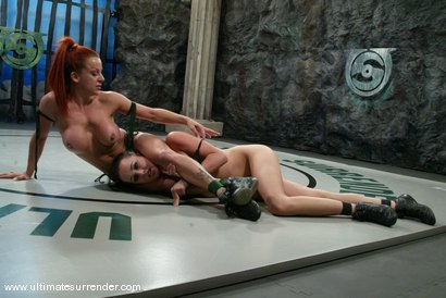 Photo number 10 from The Green Machine(0-1) <br>The Badger (1-2) shot for Ultimate Surrender on Kink.com. Featuring Shannon Kelly and Alexa Von Tess in hardcore BDSM & Fetish porn.