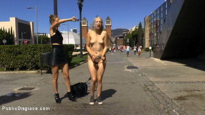 Photo number 1 from The Humiliation of Liz Rainbow - Part 2 Double Penetration shot for Public Disgrace on Kink.com. Featuring Mona Wales, Liz Rainbow and Juan Lucho in hardcore BDSM & Fetish porn.