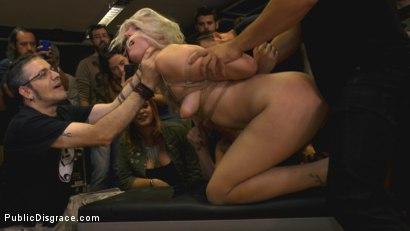 Photo number 12 from The Humiliation of Liz Rainbow - Part 2 Double Penetration shot for Public Disgrace on Kink.com. Featuring Mona Wales, Liz Rainbow and Juan Lucho in hardcore BDSM & Fetish porn.