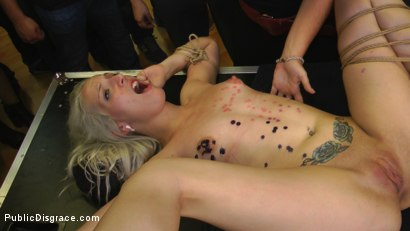 Photo number 17 from The Humiliation of Liz Rainbow - Part 2 Double Penetration shot for Public Disgrace on Kink.com. Featuring Mona Wales, Liz Rainbow and Juan Lucho in hardcore BDSM & Fetish porn.