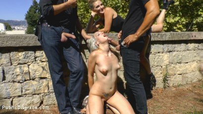 Photo number 7 from The Humiliation of Liz Rainbow - Part 2 Double Penetration shot for Public Disgrace on Kink.com. Featuring Mona Wales, Liz Rainbow and Juan Lucho in hardcore BDSM & Fetish porn.