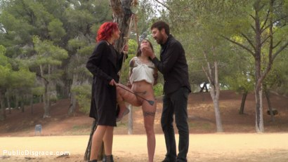 Photo number 1 from Bound Teen Alexa Nasha is Fucked Before a Chanting Crowd - Part 1 shot for Public Disgrace on Kink.com. Featuring Steve Holmes, Silvia Rubi, Juan Lucho and Alexa Nasha in hardcore BDSM & Fetish porn.