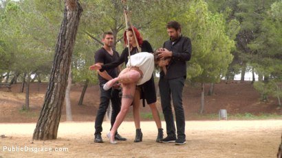 Photo number 4 from Bound Teen Alexa Nasha is Fucked Before a Chanting Crowd - Part 1 shot for Public Disgrace on Kink.com. Featuring Steve Holmes, Silvia Rubi, Juan Lucho and Alexa Nasha in hardcore BDSM & Fetish porn.
