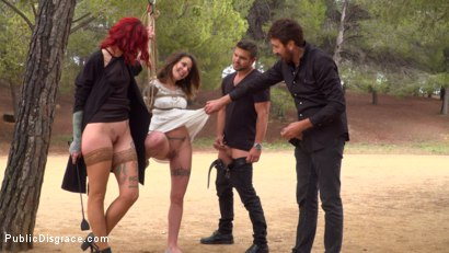 Photo number 5 from Bound Teen Alexa Nasha is Fucked Before a Chanting Crowd - Part 1 shot for Public Disgrace on Kink.com. Featuring Steve Holmes, Silvia Rubi, Juan Lucho and Alexa Nasha in hardcore BDSM & Fetish porn.