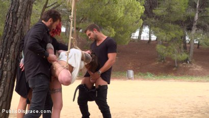 Photo number 8 from Bound Teen Alexa Nasha is Fucked Before a Chanting Crowd - Part 1 shot for Public Disgrace on Kink.com. Featuring Steve Holmes, Silvia Rubi, Juan Lucho and Alexa Nasha in hardcore BDSM & Fetish porn.