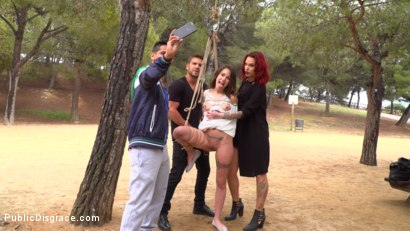 Photo number 3 from Perky Teen Alexa Nasha is Fucked in front of a Chanting Crowd - Part 2 shot for Public Disgrace on Kink.com. Featuring Steve Holmes, Silvia Rubi, Juan Lucho and Alexa Nasha in hardcore BDSM & Fetish porn.