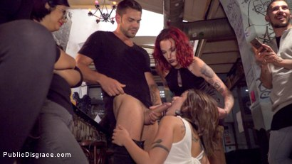 Photo number 8 from Perky Teen Alexa Nasha is Fucked in front of a Chanting Crowd - Part 2 shot for Public Disgrace on Kink.com. Featuring Steve Holmes, Silvia Rubi, Juan Lucho and Alexa Nasha in hardcore BDSM & Fetish porn.
