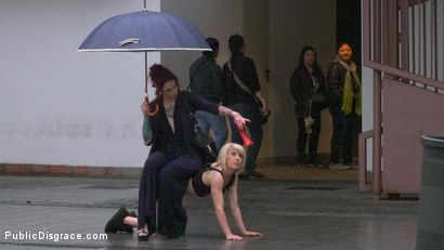 Photo number 8 from Eager Bitch Spanked And Flogged In The Rain! - Part 1 shot for publicdisgrace on Kink.com. Featuring Steve Holmes, Juan Lucho, Nora Barcelona and Silvia Rubi in hardcore BDSM & Fetish porn.