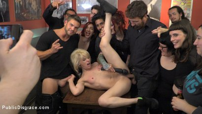 Photo number 12 from Naughty Bitch Gets The Bone She's After - Part 2 shot for Public Disgrace on Kink.com. Featuring Steve Holmes, Juan Lucho, Nora Barcelona and Silvia Rubi in hardcore BDSM & Fetish porn.