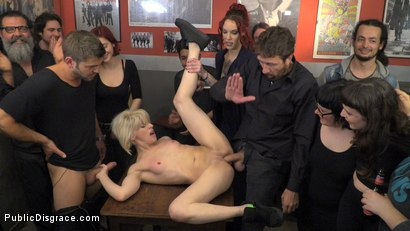 Photo number 13 from Naughty Bitch Gets The Bone She's After - Part 2 shot for Public Disgrace on Kink.com. Featuring Steve Holmes, Juan Lucho, Nora Barcelona and Silvia Rubi in hardcore BDSM & Fetish porn.