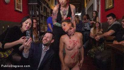 Photo number 12 from Shy Pretty Bitch Sings in Pain - Part 1 shot for Public Disgrace on Kink.com. Featuring Steve Holmes, Silvia Rubi, Pablo Ferrari and Julia Roca in hardcore BDSM & Fetish porn.