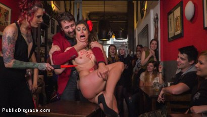 Photo number 14 from Shy Pretty Bitch Sings in Pain - Part 1 shot for Public Disgrace on Kink.com. Featuring Steve Holmes, Silvia Rubi, Pablo Ferrari and Julia Roca in hardcore BDSM & Fetish porn.