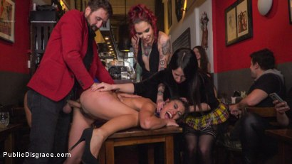 Photo number 17 from Shy Pretty Bitch Sings in Pain - Part 1 shot for Public Disgrace on Kink.com. Featuring Steve Holmes, Silvia Rubi, Pablo Ferrari and Julia Roca in hardcore BDSM & Fetish porn.