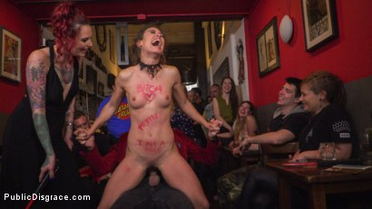 Photo number 19 from Shy Pretty Bitch Sings in Pain - Part 1 shot for Public Disgrace on Kink.com. Featuring Steve Holmes, Silvia Rubi, Pablo Ferrari and Julia Roca in hardcore BDSM & Fetish porn.