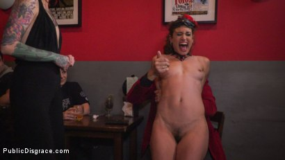 Photo number 7 from Shy Pretty Bitch Sings in Pain - Part 1 shot for Public Disgrace on Kink.com. Featuring Steve Holmes, Silvia Rubi, Pablo Ferrari and Julia Roca in hardcore BDSM & Fetish porn.