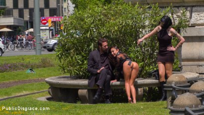 Photo number 5 from Perky Little Slut in a Box - Part 1 shot for Public Disgrace on Kink.com. Featuring Steve Holmes, Oliver Pina, Melody Petite and Mistress Minerva in hardcore BDSM & Fetish porn.