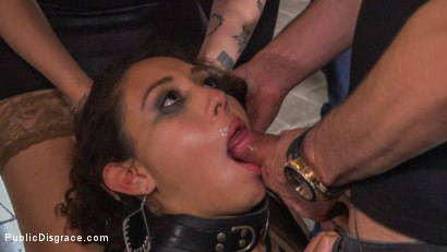 Photo number 20 from Fugitive Biker Bar Gets Serviced! - Part 2 shot for Public Disgrace on Kink.com. Featuring Steve Holmes, Oliver Pina, Melody Petite and Mistress Minerva in hardcore BDSM & Fetish porn.