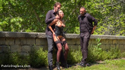 Photo number 11 from Spanish Slut Frida Sante Fucked Outdoors shot for Public Disgrace on Kink.com. Featuring Steve Holmes, Pablo Ferrari, Melody Petite and Frida Sante in hardcore BDSM & Fetish porn.