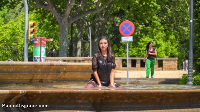 Photo number 13 from Spanish Slut Frida Sante Fucked Outdoors shot for Public Disgrace on Kink.com. Featuring Steve Holmes, Pablo Ferrari, Melody Petite and Frida Sante in hardcore BDSM & Fetish porn.