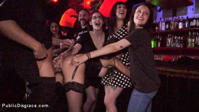 Photo number 12 from Underground Goth Club turns into a Wild Fuck Party! shot for Public Disgrace on Kink.com. Featuring Steve Holmes, Pablo Ferrari, Melody Petite and Frida Sante in hardcore BDSM & Fetish porn.