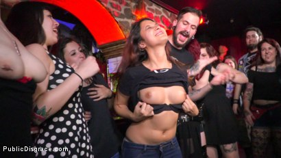 Photo number 14 from Underground Goth Club turns into a Wild Fuck Party! shot for Public Disgrace on Kink.com. Featuring Steve Holmes, Pablo Ferrari, Melody Petite and Frida Sante in hardcore BDSM & Fetish porn.