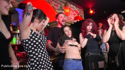 Photo number 15 from Underground Goth Club turns into a Wild Fuck Party! shot for Public Disgrace on Kink.com. Featuring Steve Holmes, Pablo Ferrari, Melody Petite and Frida Sante in hardcore BDSM & Fetish porn.